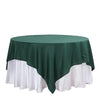 54 inches Hunter Emerald Green Square Polyester Table Overlay