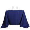 "90"" Navy Blue Square Polyester Tablecloth"