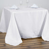 "90"" White Premium Square Polyester Tablecloth"