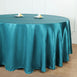 "108"" Teal Satin Round Tablecloth"