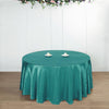 "108"" TURQUOISE Wholesale SATIN Round Tablecloth For Wedding Banquet Restaurant"