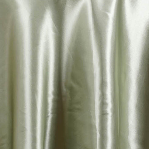 "90"" color- reseda Wholesale SATIN Round Tablecloth For Wedding Banquet Restaurant"