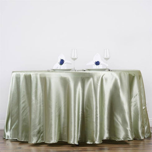 "90"" RESEDA Wholesale SATIN Round Tablecloth For Wedding Banquet Restaurant"