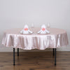 "90"" BLUSH Wholesale Satin Round Tablecloth For Wedding Banquet Restaurant"