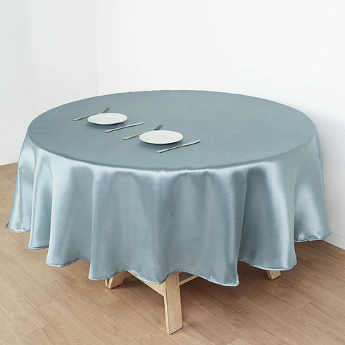 Satin Tablecloth, Round Tablecloth, Table Decoration