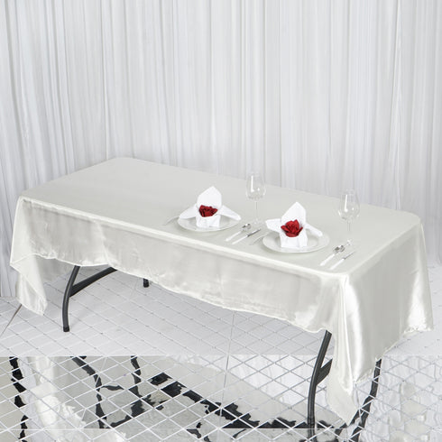 "50x120"" Satin Tablecloth - Ivory"