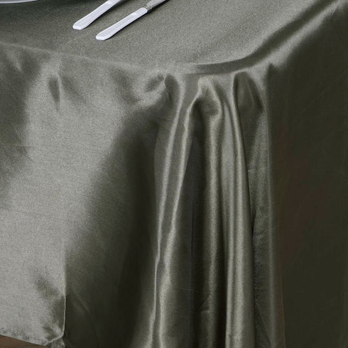 "60x102"" Laurel Green Satin Rectangular Tablecloth"