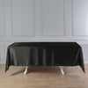 "60""x102"" Black Satin Rectangular Tablecloth"