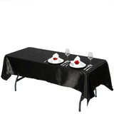 "60x102"" BLACK Wholesale SATIN Banquet Linen Wedding Party Restaurant Tablecloth"