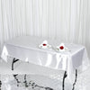 60x102 White Satin Rectangular Tablecloth