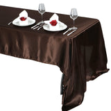 "60x126"" CHOCOLATE Wholesale SATIN Banquet Linen Wedding Party Restaurant Tablecloth"