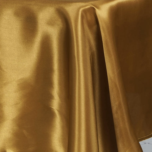 "60x126"" GOLD Wholesale SATIN Banquet Linen Wedding Party Restaurant Tablecloth"