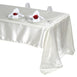 "60x126"" Ivory Satin Rectangular Tablecloth"
