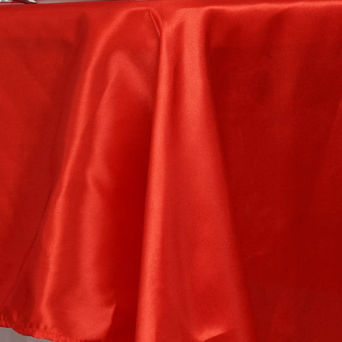 "60x126"" RED Wholesale SATIN Banquet Linen Wedding Party Restaurant Tablecloth"