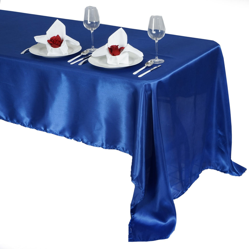 "60x126"" ROYAL BLUE Wholesale SATIN Banquet Linen Wedding Party Restaurant Tablecloth"
