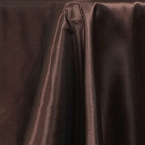 "72x120"" CHOCOLATE Wholesale SATIN Banquet Linen Wedding Party Restaurant Tablecloth"