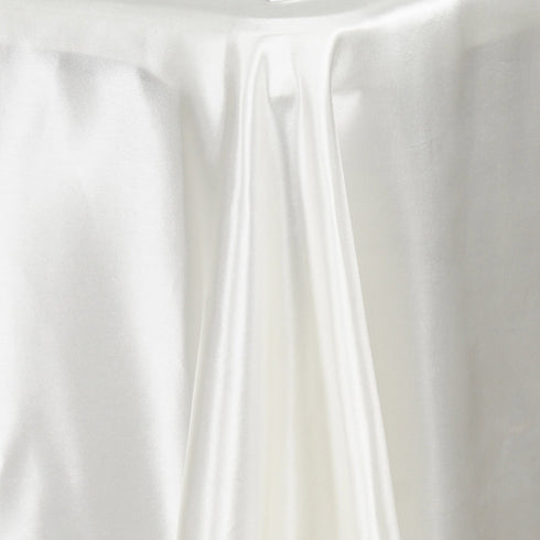 "72x120"" IVORY Wholesale SATIN Banquet Linen Wedding Party Restaurant Tablecloth"