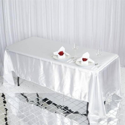 "72x120"" Satin Tablecloth - White"