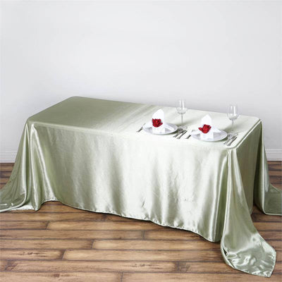 "90x132"" RESEDA Wholesale SATIN Banquet Linen Wedding Party Restaurant Tablecloth"