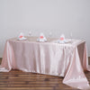 "90x132"" BLUSH Wholesale Satin Banquet Linen Wedding Party Restaurant Tablecloth"