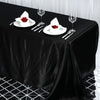"90x132"" Black Satin Rectangular Tablecloth"