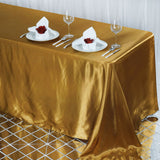 "90x132"" GOLD Wholesale SATIN Banquet Linen Wedding Party Restaurant Tablecloth"