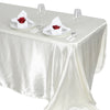 90x132 Ivory Satin Rectangular Tablecloth