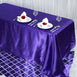 "90x132"" Purple Satin Rectangular Tablecloth"