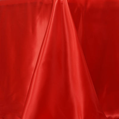 "90x132"" RED Wholesale SATIN Banquet Linen Wedding Party Restaurant Tablecloth"