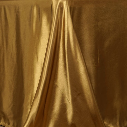 "90x156"" GOLD Wholesale SATIN Banquet Linen Wedding Party Restaurant Tablecloth"