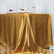 "90x156"" Gold Satin Rectangular Tablecloth"