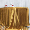 90x156 Gold Satin Rectangular Tablecloth