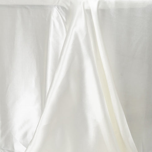 "90x156"" IVORY Wholesale SATIN Banquet Linen Wedding Party Restaurant Tablecloth"
