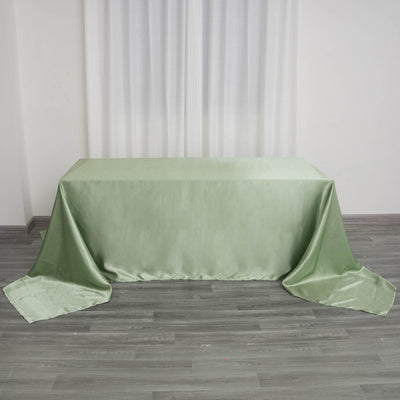 "90x156"" SAGE GREEN Wholesale SATIN Banquet Linen Wedding Party Restaurant Tablecloth"