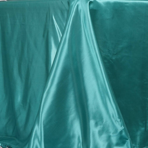 "90x156"" TURQUOISE Wholesale SATIN Banquet Linen Wedding Party Restaurant Tablecloth"