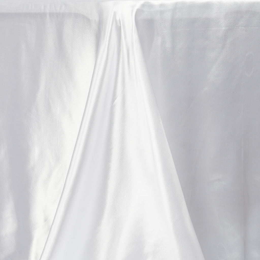 "90x156"" WHITE Wholesale SATIN Banquet Linen Wedding Party Restaurant Tablecloth"