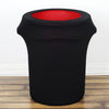 41-50 Gallons Black Stretch Spandex Round Trash Bin Container Cover