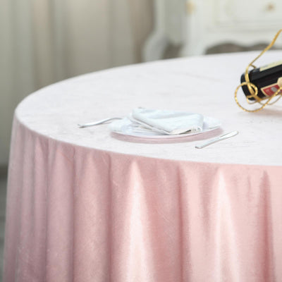 Crushed Velvet Table Cloths Round and Rectangle Blush pink Dusky Pink /& Grey