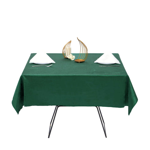 54'' x 54'' | Hunter Green | Premium Velvet Square Tablecloth