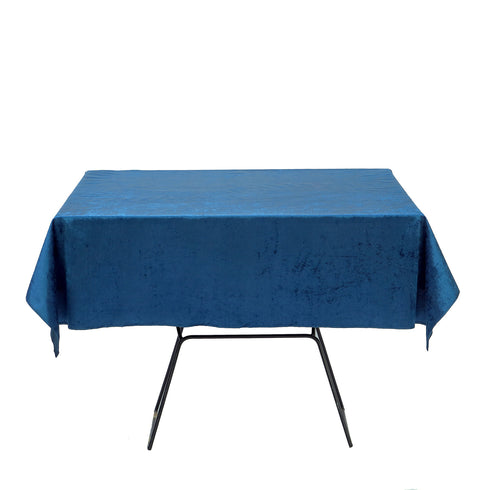 54'' x 54'' | Navy | Premium Velvet Square Tablecloth