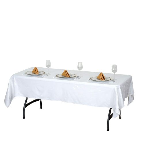 "54""x72"" Eco-friendly Clear Disposable Vinyl Tablecloth Cover"