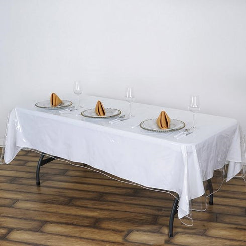 "60""x108"" Clear Vinyl Tablecloth Protector Eco-friendly Cover"