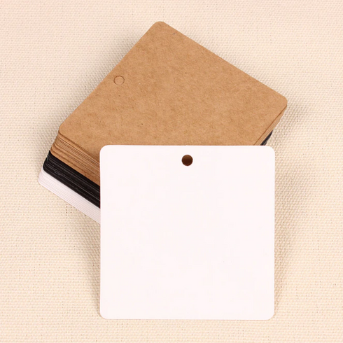Set of 100 | Printable Square Shaped Wedding Favor Gift Tags