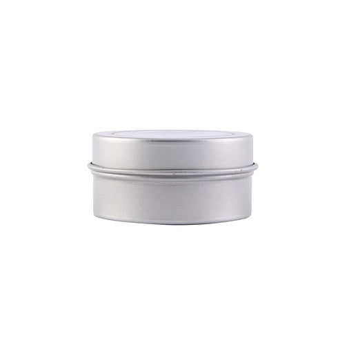 10 Pack - Silver Round Mint Tin Favor Boxes - Clear Top Candy Tin Party Favors
