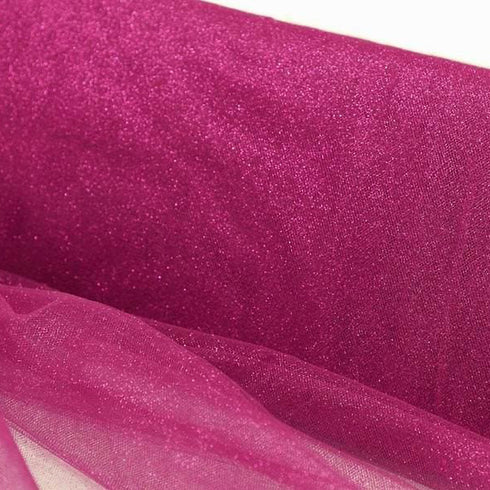 "PRINCESS Glitters Tulle Fushia 54"" x 15yards"