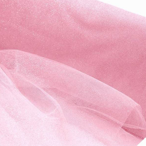 "PRINCESS Glitters Tulle Pink 54"" x 15yards"