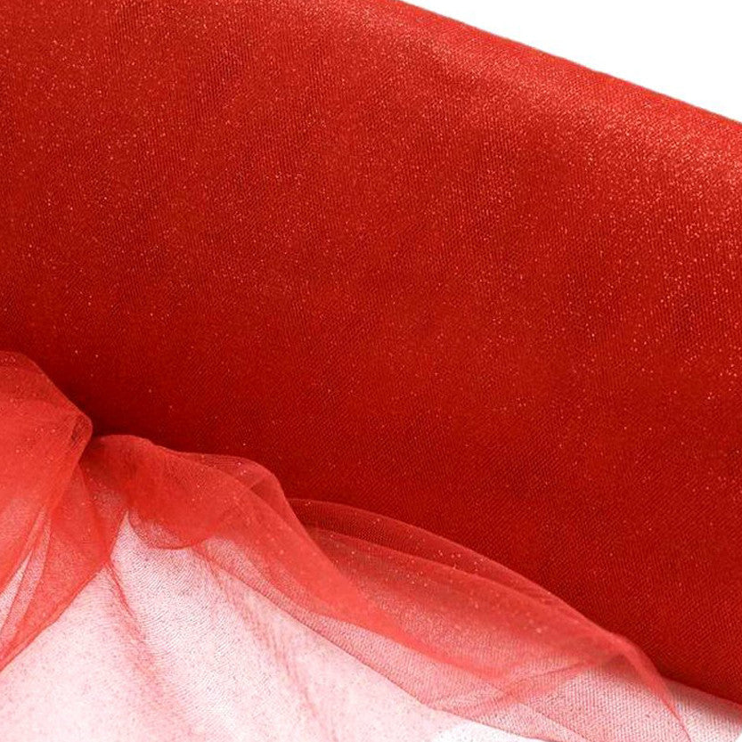 "PRINCESS Glitters Tulle Red 54"" x 15yards"