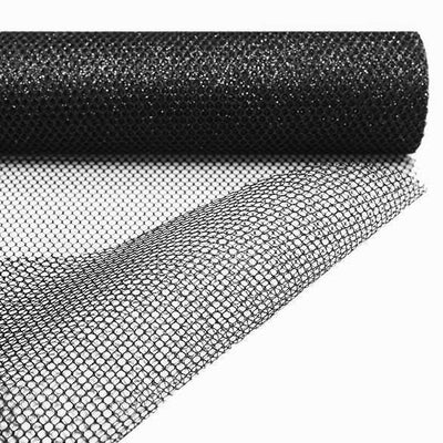 "EXQUISITE Stardusted Waffle Tulle Bolt 19"" x 10yards - Black"