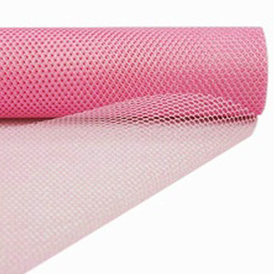 "EXQUISITE Stardusted Waffle Tulle Bolt 19"" x 10yards - Pink"