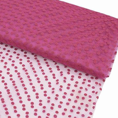 "Dots The Way I Like It Fushia 60""x10yards Tulle"